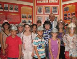Юные томичи посетили Музей пожарной охраны